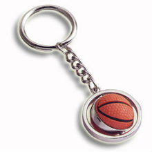 2013 Eco-friendly Promotional basketball rotate metal keychain supplier