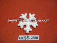 2013 hot-selling cheap foam plastic glitter snowflake ornaments