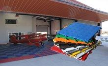PVC glitter floor tiles for veranda