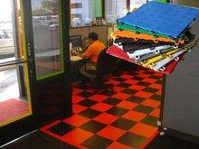 PVC bathroom floor tile ideas for office
