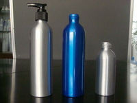 180ml Aluminium bottle with plastic lotion pump JB-129