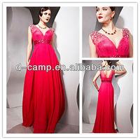 OC-1847 Fancy beaded sheer strap deep v neckline sexy red maternity prom dresses for fat women