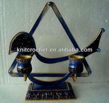 Jewish Judaica Menorah Candle Holder (KCC-CDSH0013B)