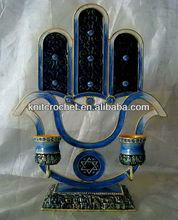 Jewish Judaica Menorah Candle Holder (KCC-CDSH0014B)