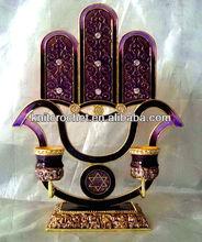 Jewish Judaica Menorah Candle Holder (KCC-CDSH0014P)