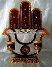 Jewish Judaica Menorah Candle Holder (KCC-CDSH0014R)
