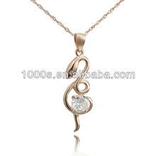 2013 Snake Shaped Rose Gold Pendant