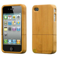 kanger bamboo case for mobile phone 4 iphone 4s