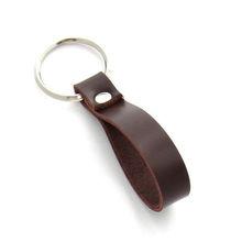 Leather strap keychain ,A leather key Ring in Dark Burgundy