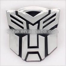 Car Transformer Sticker 3D ABS Chorome Autobots and Decepticons S/L/M Size Auto Emblem Decal Sticker