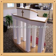 An-b284 moderno vender fábrica de madeira púlpito, De madeira púlpito, Púlpito da igreja Pedestal