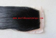 light yaki human hair lace closure/top closure
