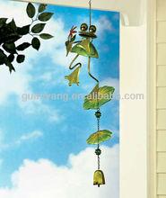Metal Fancy Frog Big Eyes Hanging Garden Bell Home Decoration