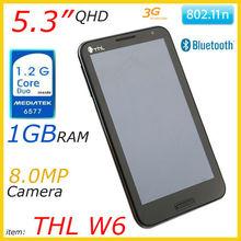 "5.3"" QHD IPS MTK6577 smartphone THL W6"