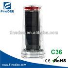 C36 Ni-Cd 4v red blinking solar panel car battery flashlight red blink