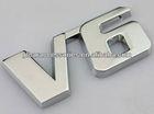 Car Metal Chrome 3D V6 Displacement Emblem Badge truck auto motor sticker decal
