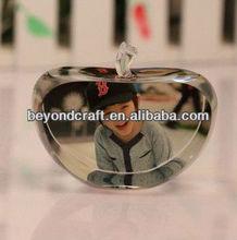 naughty boy crystal image crystal apple as christmas decoration