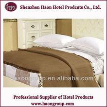 hotel polyester&wool blending blanket