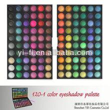 Professional!120-1 color eyeshadow eyeshadow compact with brush