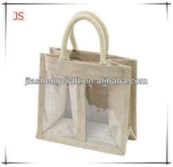 bottle jute wine tote bag,Newest jute wine bag
