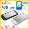 "THL W1+ 4.3"" MTK6577 cellphone with RAM 1GB+ROM 4GB"