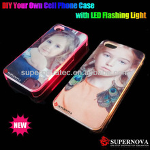 DIY LED Flashing Case for iPhone 4 4s with Blank Aluminum Insert for printing