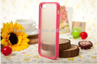 2013 new product tpu bumper + matte pc backside case for iphone 5