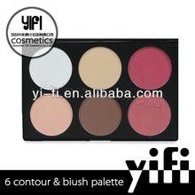 6 Color Blush Palette loose mineral powder blush