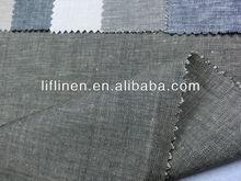 yarn dyed chambray linen viscose spandex fabric