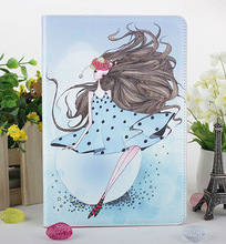 2013 new products for Apple ipad mini lovely girls PU leather flip case screen protector cover