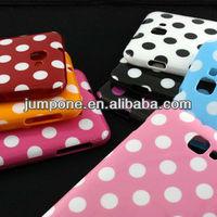 Polka Dot TPU Soft back Case Cover for Samsung Galaxy Note N7000 I9220