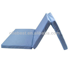 Triple folded memory foam mattress topper portable foam mattress