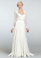 Vintage Lace Long Sleeve Thailand Wedding Dress(WDJL-1017)