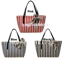 womens bags fashions Girls Casual Stripe canvas handbag designer Tote Bag Shoulder Bag