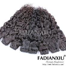 Hot hair look beautiful pure natural black color hair weave in bulk