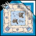 Custom designs personnalisés imprimés foulard de soie d'impression numérique