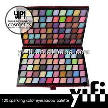 New Fashion! 120 sparkling color eyeshadow palette eyeshadow/color cosmetics