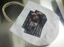 White sublimation shopping bag