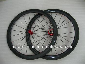 Full carbon 700c 50 tubular road bike wheelset
