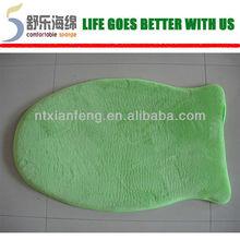 fish shape memory foam bath mat/shower mat