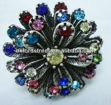 Diamond flower alloy ring