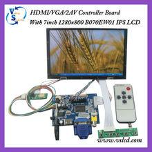 "IPS LCD Panel 7"" 1280x800 with HDMI+VGA+2AV Controller board"