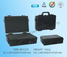 IP68 ABS black plastic waterproof tool box with customized foam