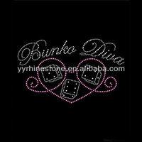 Iron On Bunco Diva Rhinestone Transfers Garment Motif