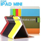 High Quality Fashion Leather case for ipad mini/Multifunctional Leather Case for ipad mini Tablet PC