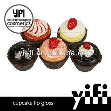 Popular makeup! lovely cupcake lip gloss lip gloss package