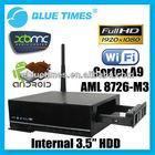 Cortex A9 Amlogic 8726-M3 1.2GHz Android 4.0 XBMC 3D 1080p Mini PC WiFi HDMI Google Play store Smart TV Box