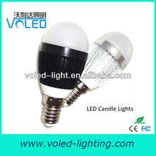 3W New Products Looking for Distributor CE ROHS FCC UL LVD Epistar E12 E14 E17 E27 B15 B22 LED Candle Light