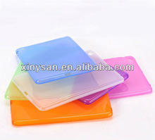 Transparent Color Soft TPU case for ipad mini,Rubber TPU case for Table PC