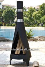 Metal chiminea